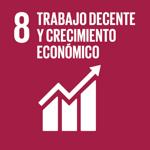 ODS 8: Trabajo decente y crecimiento económico - Apoyo para la creación de puestos de trabajo decentes, el emprendimiento, la innovación; y fomentar la formalización y el crecimiento de las microempresas & las PyMEs.Promover un turismo sostenible que cree puestos de trabajo y promueva la cultura y los productos locales