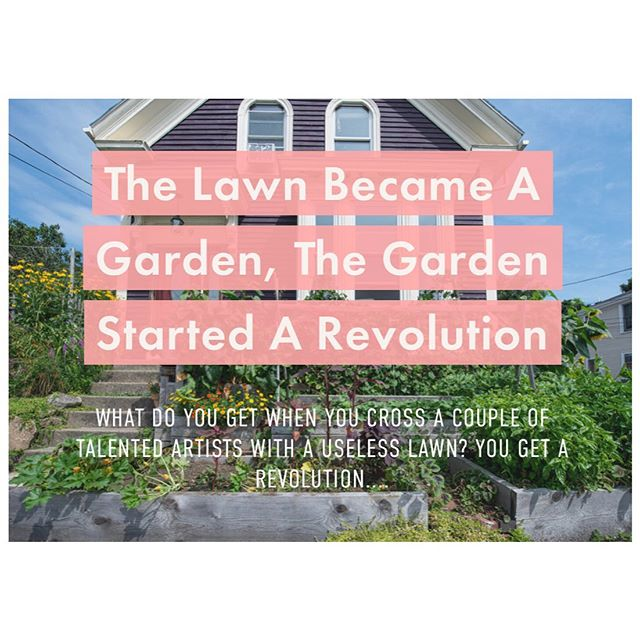 "The Lawn that Became a Garden, The Garden That Started a Revolution. . . LINK IN BIO . . In 2008, @backyardgrowers founders-Lara Lepionka and Stevens Brosnihan - knew only this: ""We had this urgency to get back some control over our finances, what kind of food we were able eat, and what kind of environment we wanted for our children."" What they did changed the horticulture- and dinner tables- of thousands who live, go to school and work in the communities of Cape Ann, Massachusetts. Click on the link, read all about this amazing project, and how an edible garden can quickly become not just a powerful tool for autonomy, but a wildlife habitat in the process. . #backyardgrowers #capeann #ediblegarden #schoolgarden #communitygarden #pollinatorgarden #visionaries #permaculture #education #inspiration #gardening #wildyardsproject #yourpropertyishabitat #growyourown #growyourownfood #createhabitat #kidswhogarden"