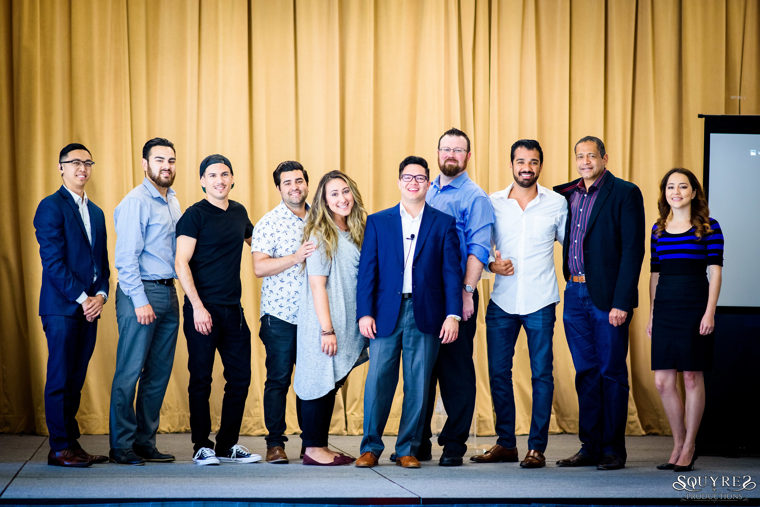 The Young Money Savvy Team and [most of] the speakers at the OPET Conference on April 9th 2017.   From left to right: Kevin Alcazar, Elias Flores, Peter Zavala, Michael Alfaro, Corinne Alfaro, Jeremy Logeot, Jeff Oliver, Art Valdivia, Juan Batista, Erika Alvarado.