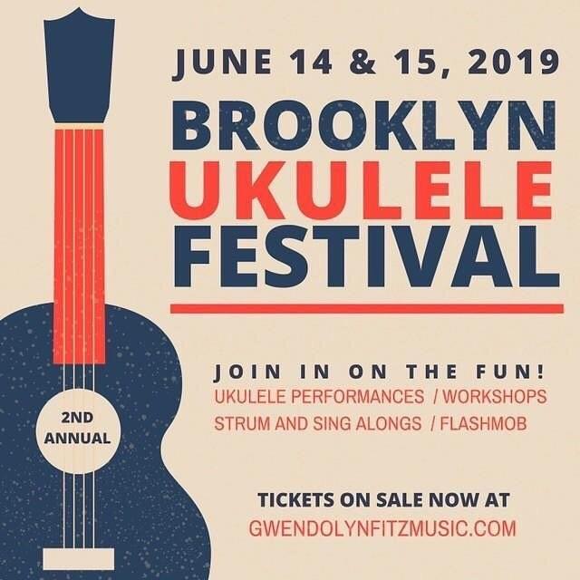 Super excited for the @brooklynukefest !!! Sure to be a real 'who's who' of the ukulele world! 🌎  tickets are available with: @gwendolynfitzmusic #ukulele #ukulelenyc #uketilyoupuke
