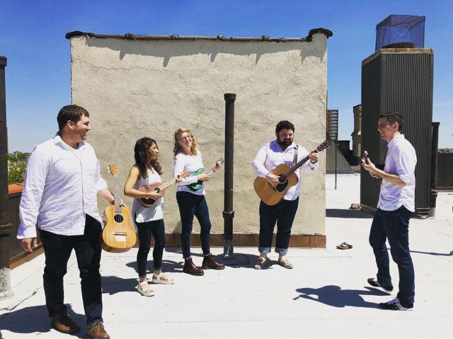 @ukulele_orchestra_nyc doing some recording today! #ukulele #nyc