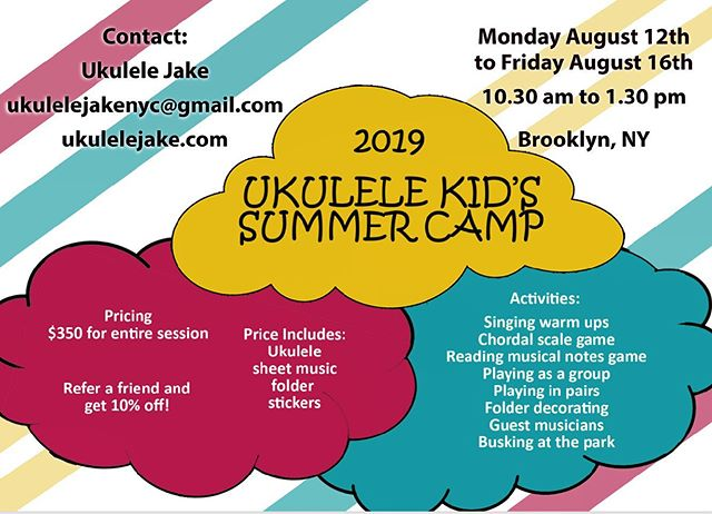 Summer just got interesting! Putting together the first Ukulele Kid's Camp this summer! * * * #ukulele #ukulelelessons #summercamp #kidssummercamp  #kidssummercampsnyc #kidssummercamps #kidsummercampnyc #kidssummercampnyc