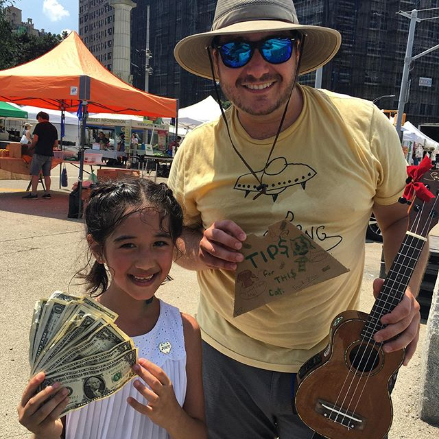 Putting in work!!! Home girl smashed it. $39/hr. Wow, heat stroke be damned! #ukulele #ukulelenyc #uketilyoupuke #nycmusic #nyc #nyckidsevents #nyckidsmusic