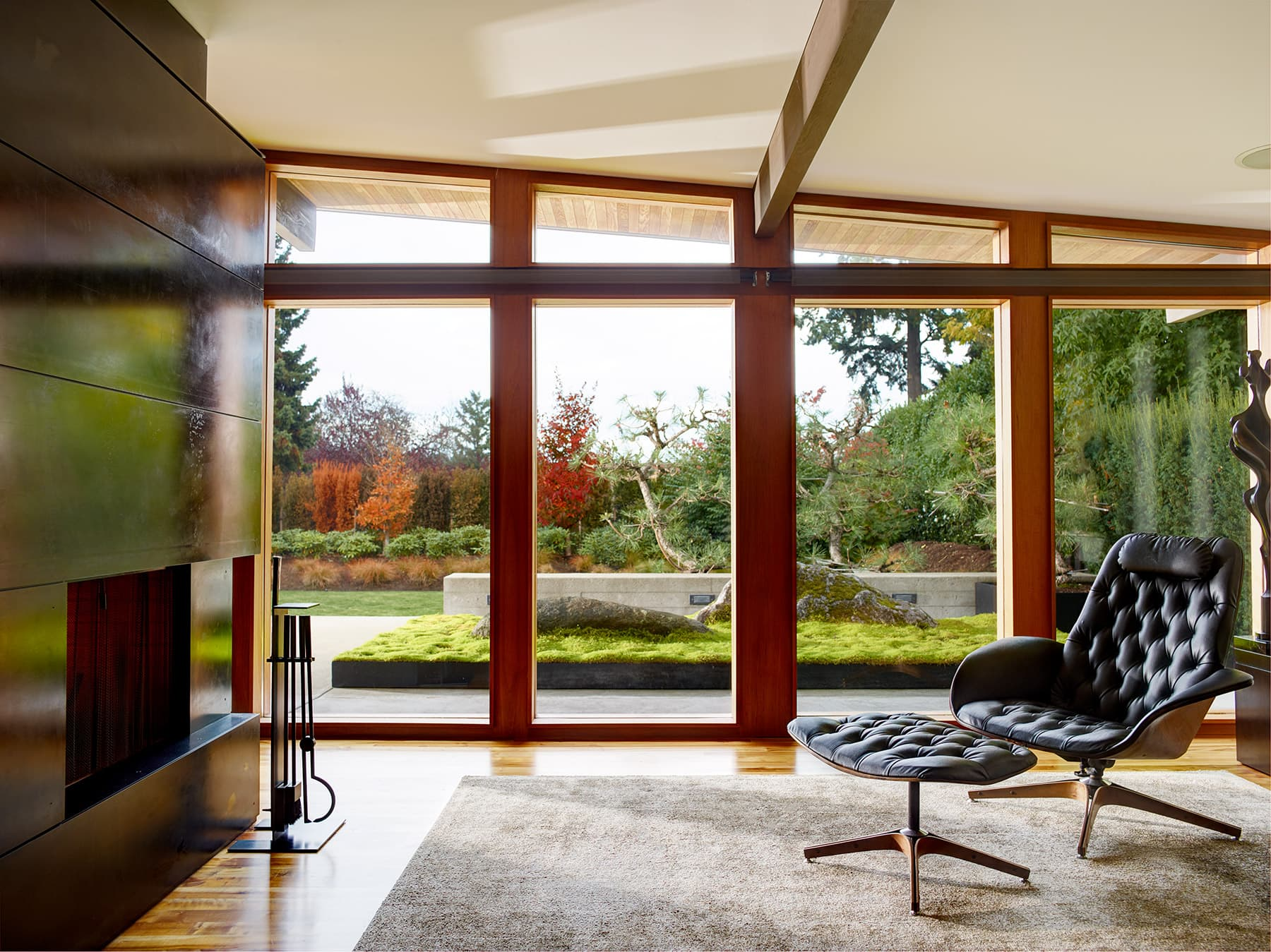 The Borrowed View - Enatai Zen Garden –the landscape is art viewed from the living room.Outside | IN