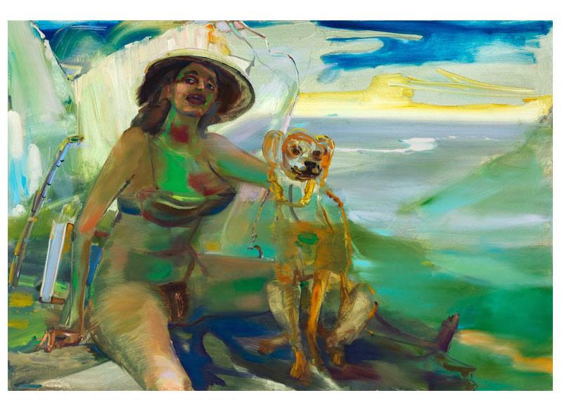 Girl and Dog Courbet