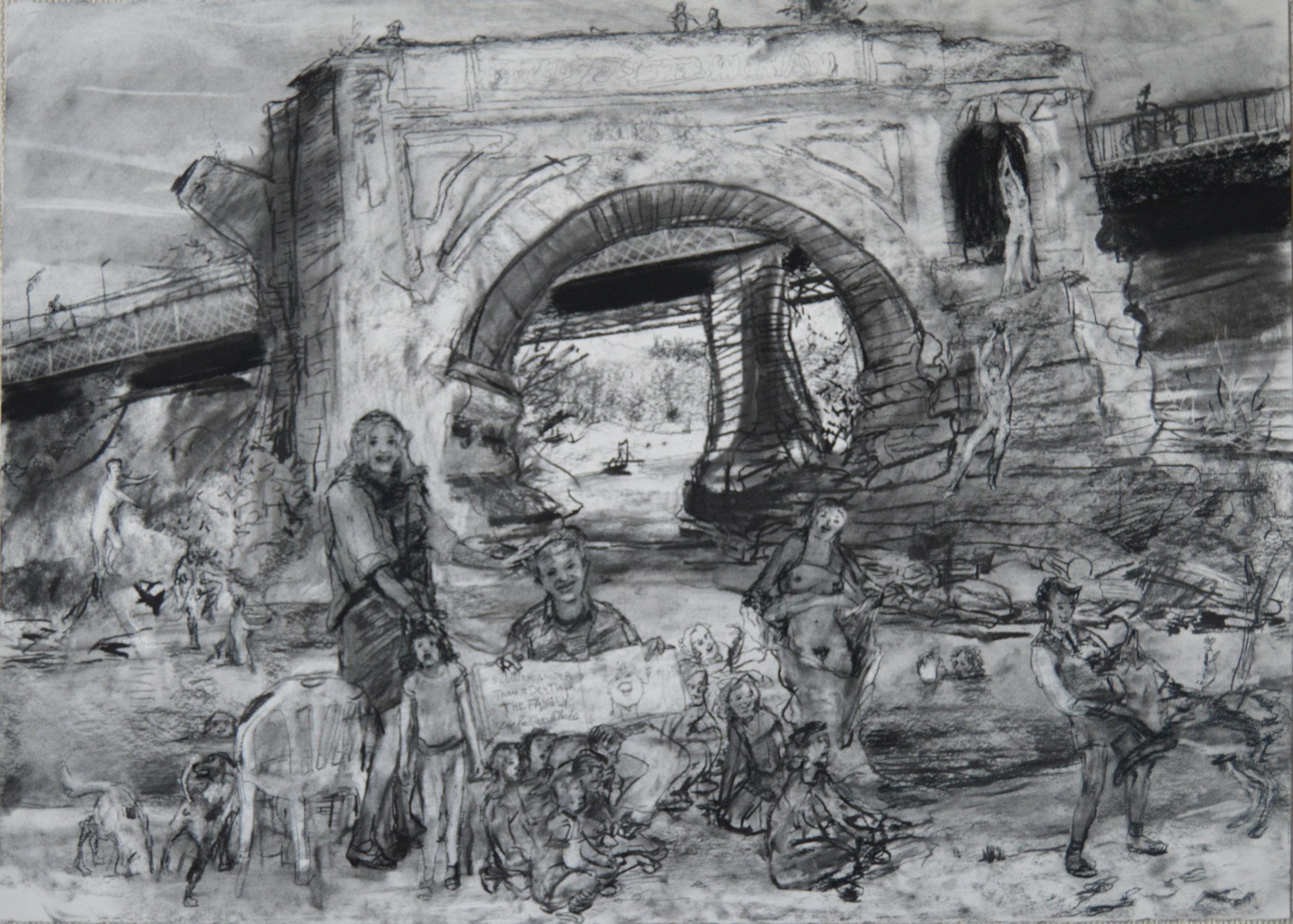 The Lost Bridge Isola Tevere Roma