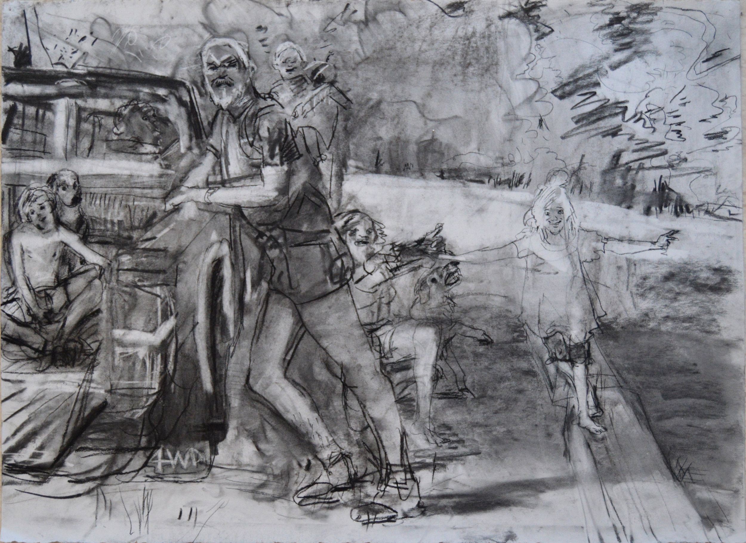 To Learn is to Forget 1 charcoal 28 by 40 inches 2015.jpg