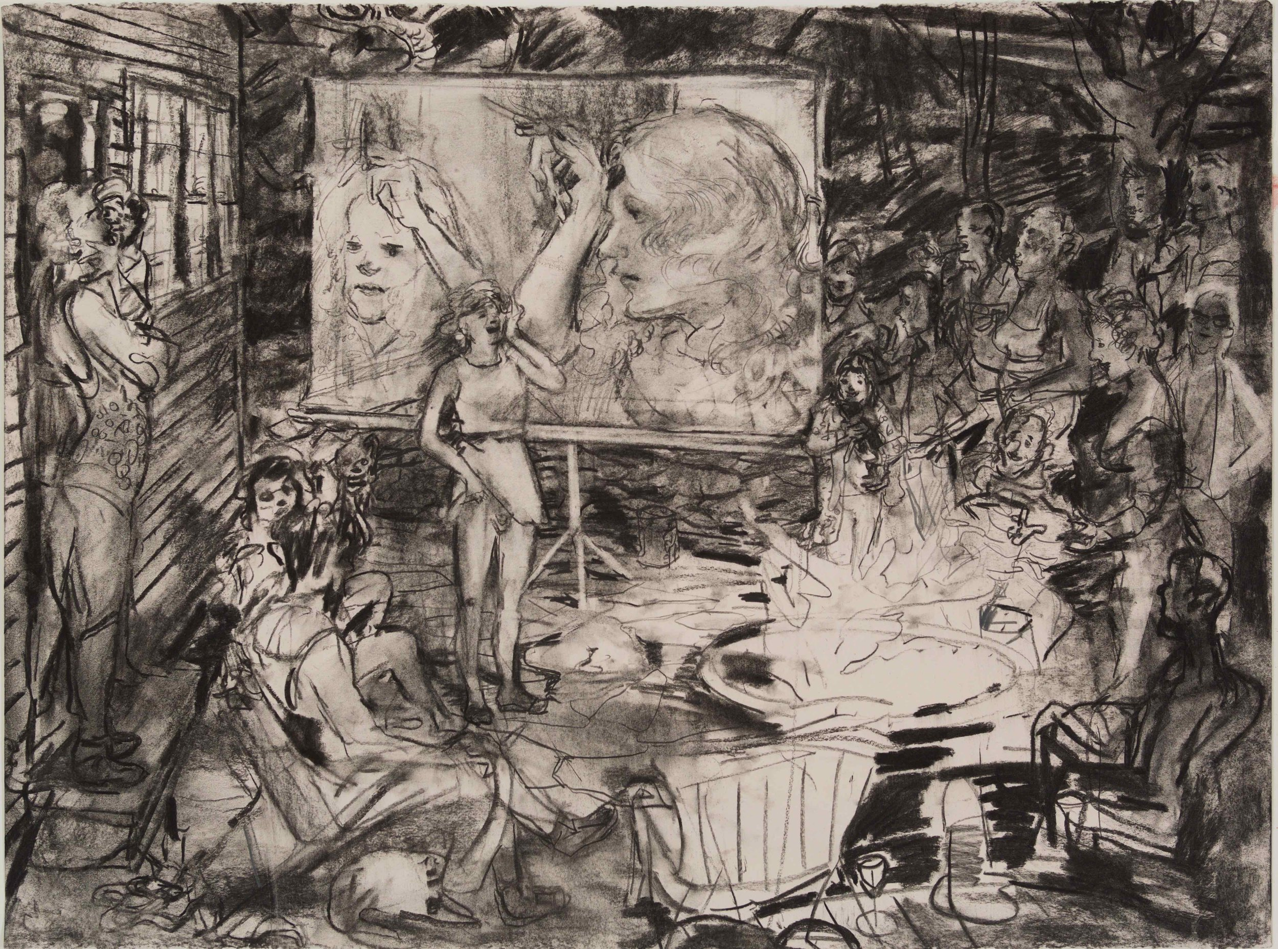 Gena School charcoal 28 by 40 inches 2016.jpg