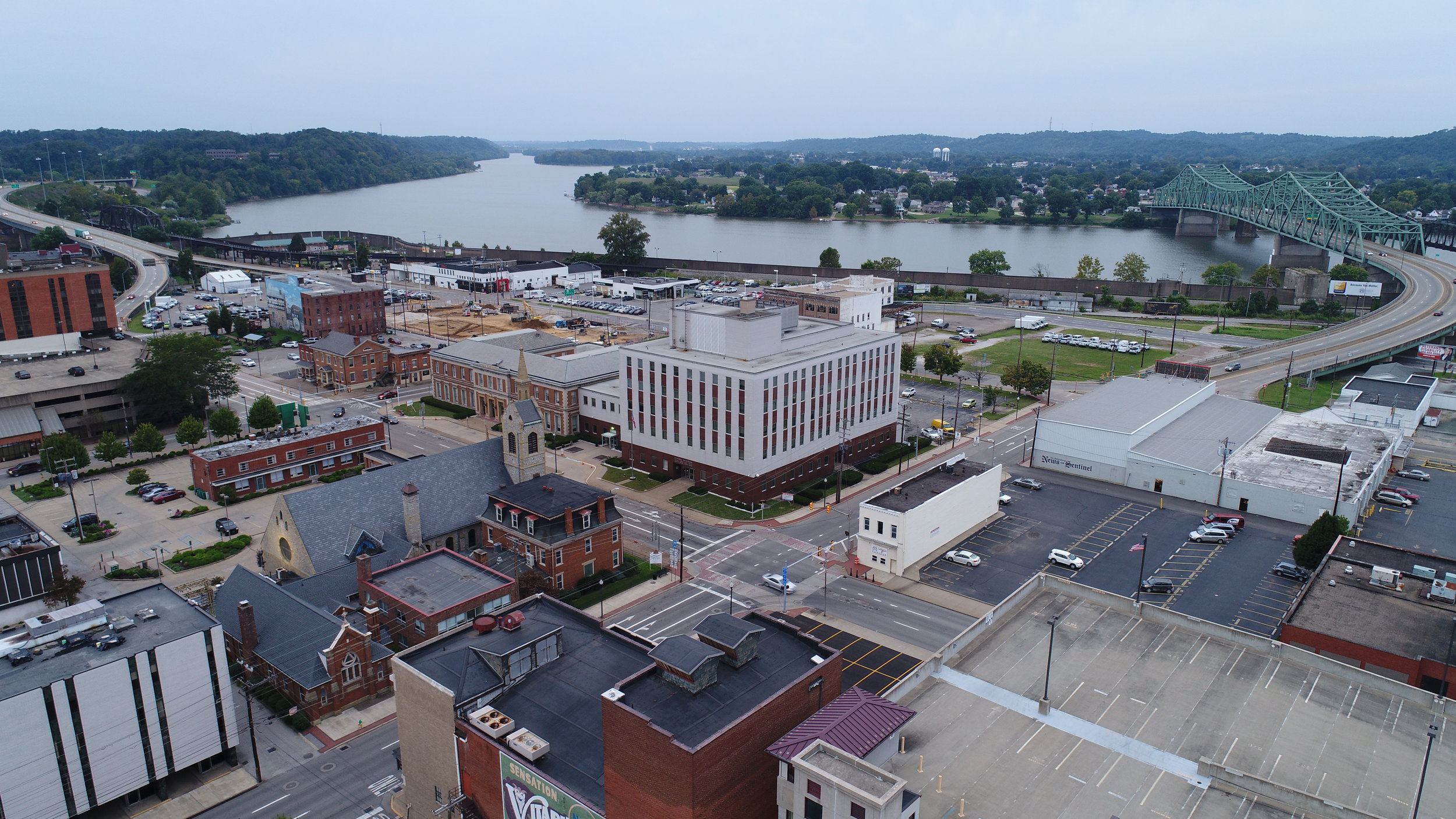 View of downtown Parkersburg, WV