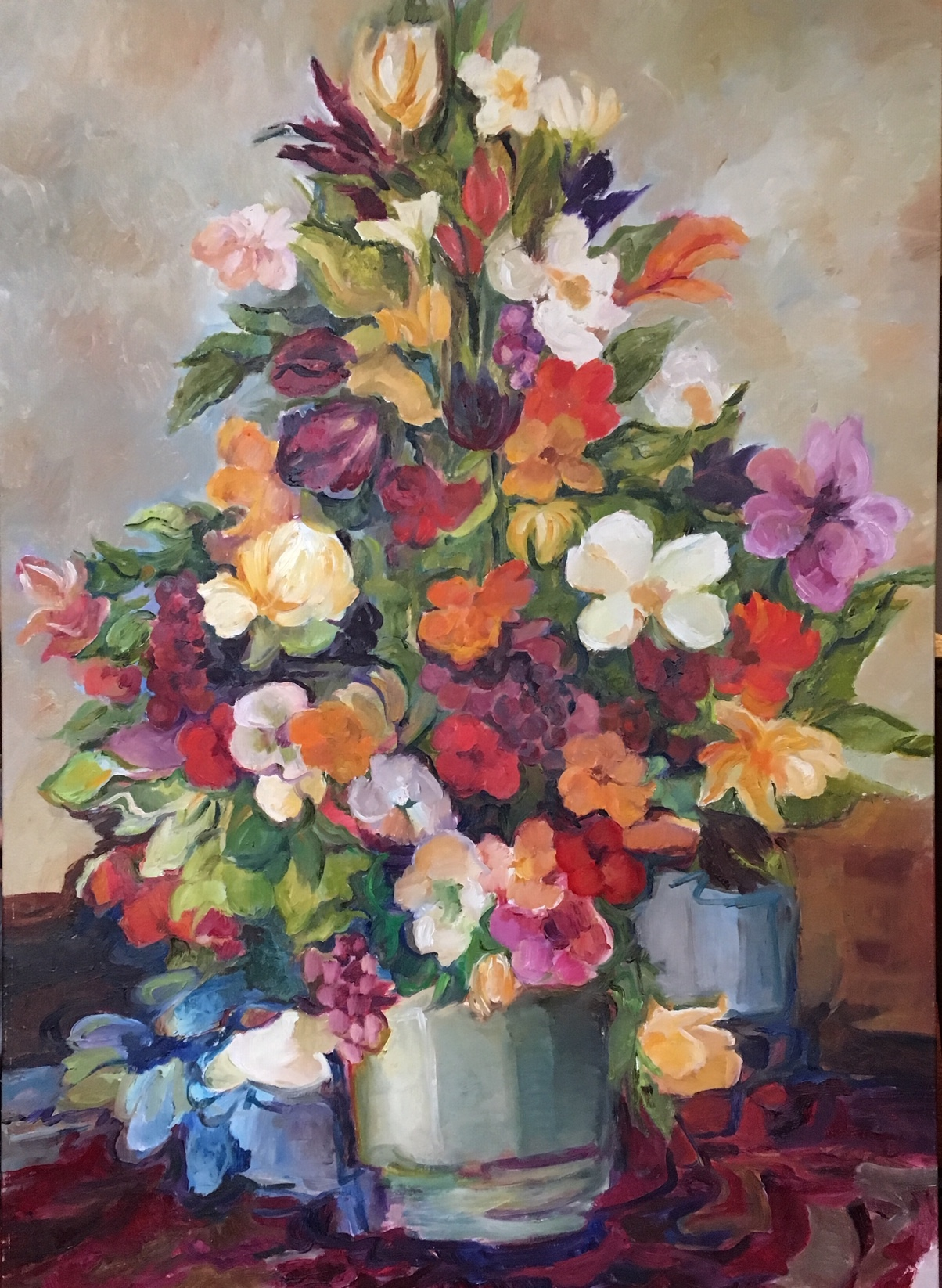 Flower Tower, 48 x 34 inches