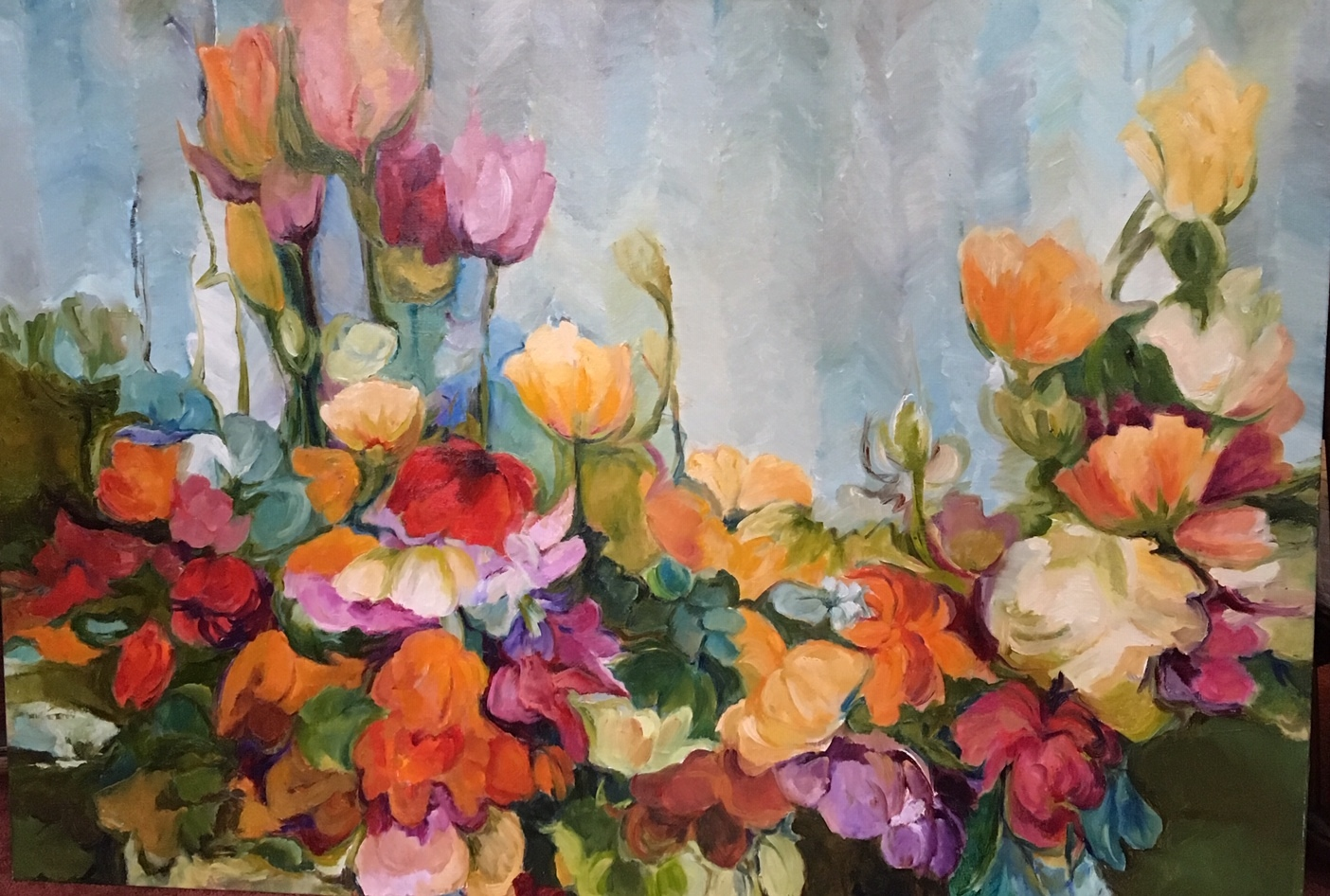 Conservative Flowers, 34 x 48 inches