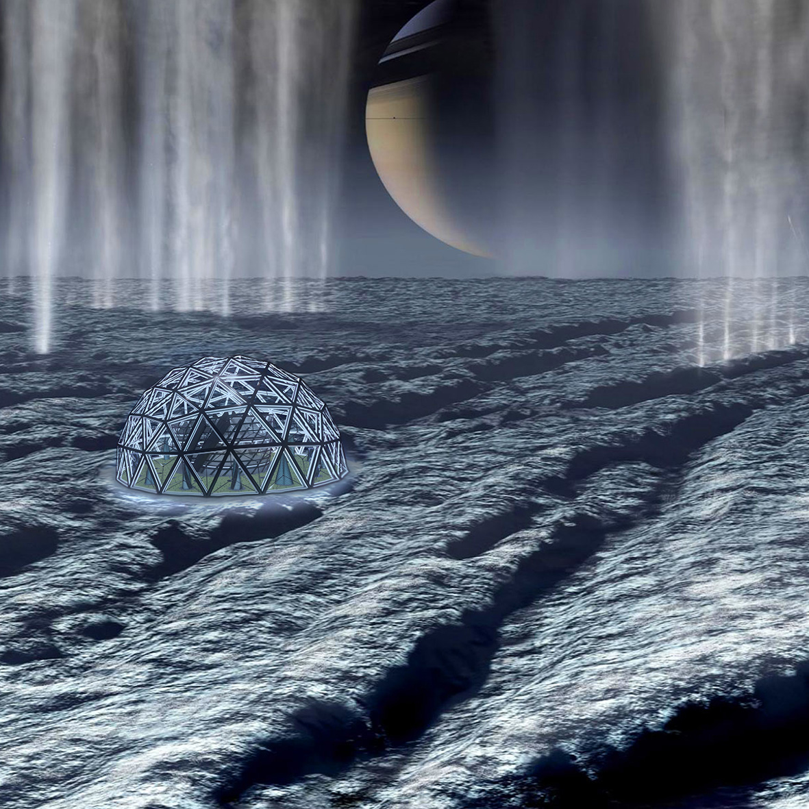 PROJECTION - ECOSYSTEM : Enceladus, Saturn's moonTEAM MEMBER : Julien Porchet
