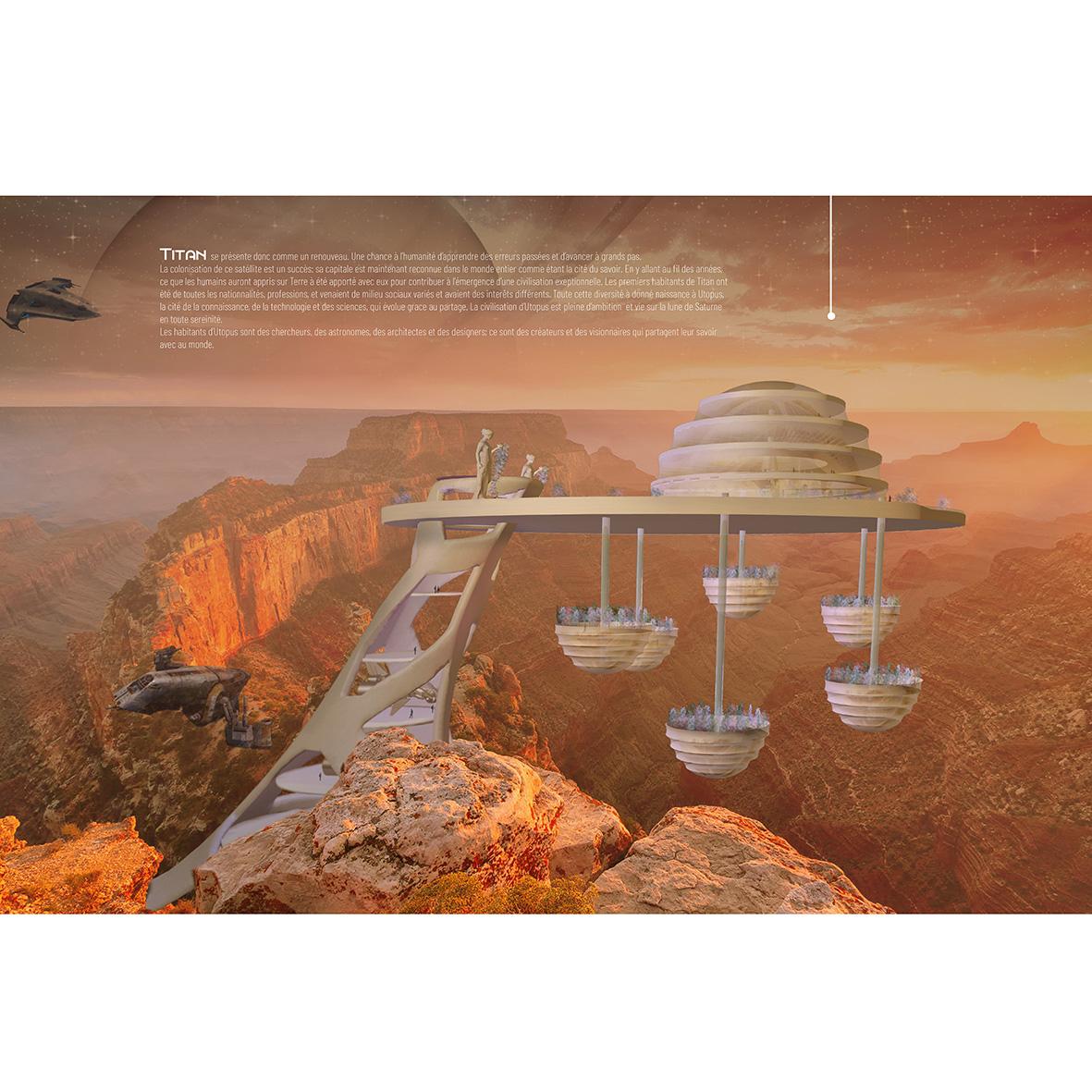 UTOPUS - ÉCOSYSTÈME : Titan, Lune de SaturneMEMBRE DE L'ÉQUIPE : Éloïse Cuny