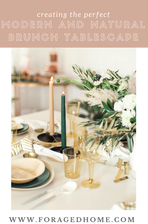 Creating the perfect modern and natural brunch table setting for your next party