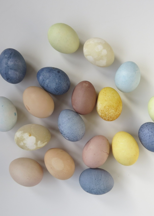 natural ways to dye easter eggs for pastel colors at Foragedhome.com