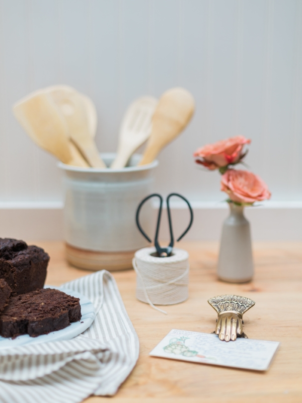 Simple kitchen decor for baking at Foraged Home