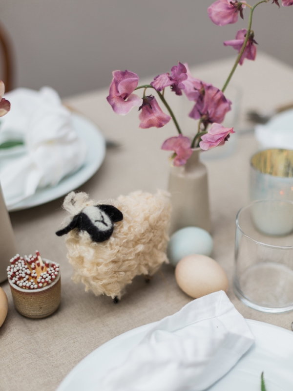 Easter brunch table centerpiece inspiration from Foraged Home