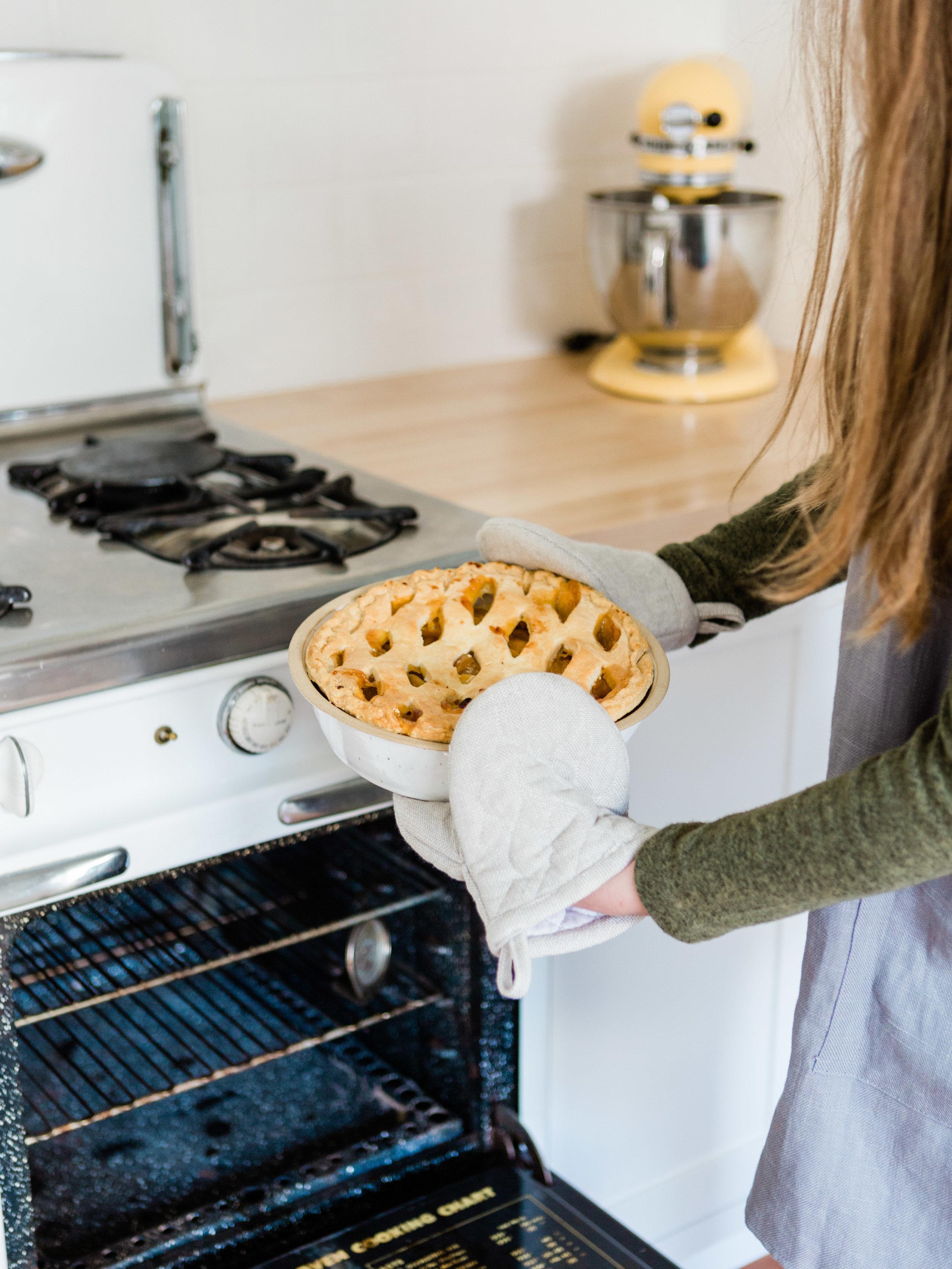 White ceramic pie dish from Foragedhome.com
