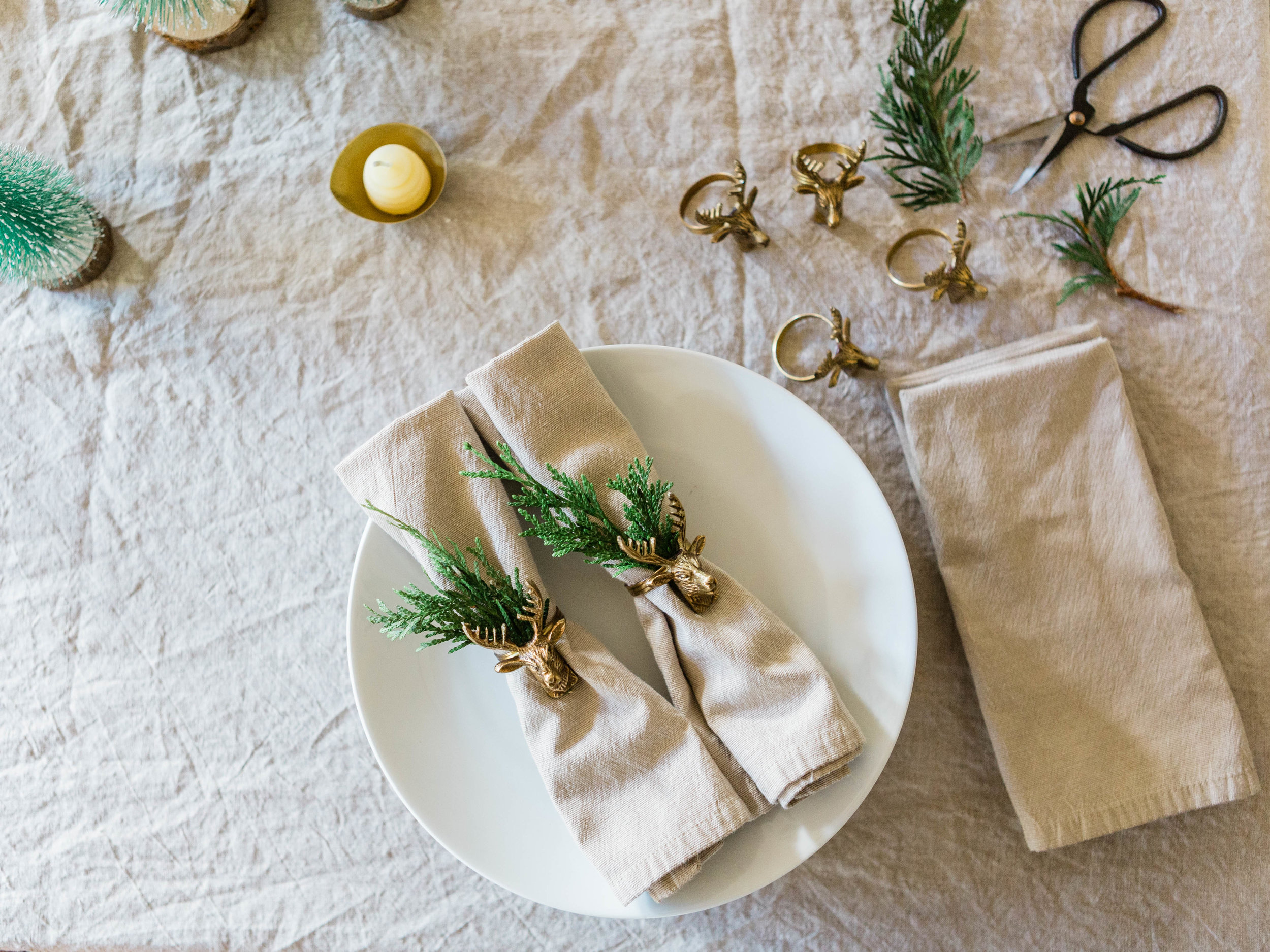 Foraged Home, a simple and easy holiday place setting