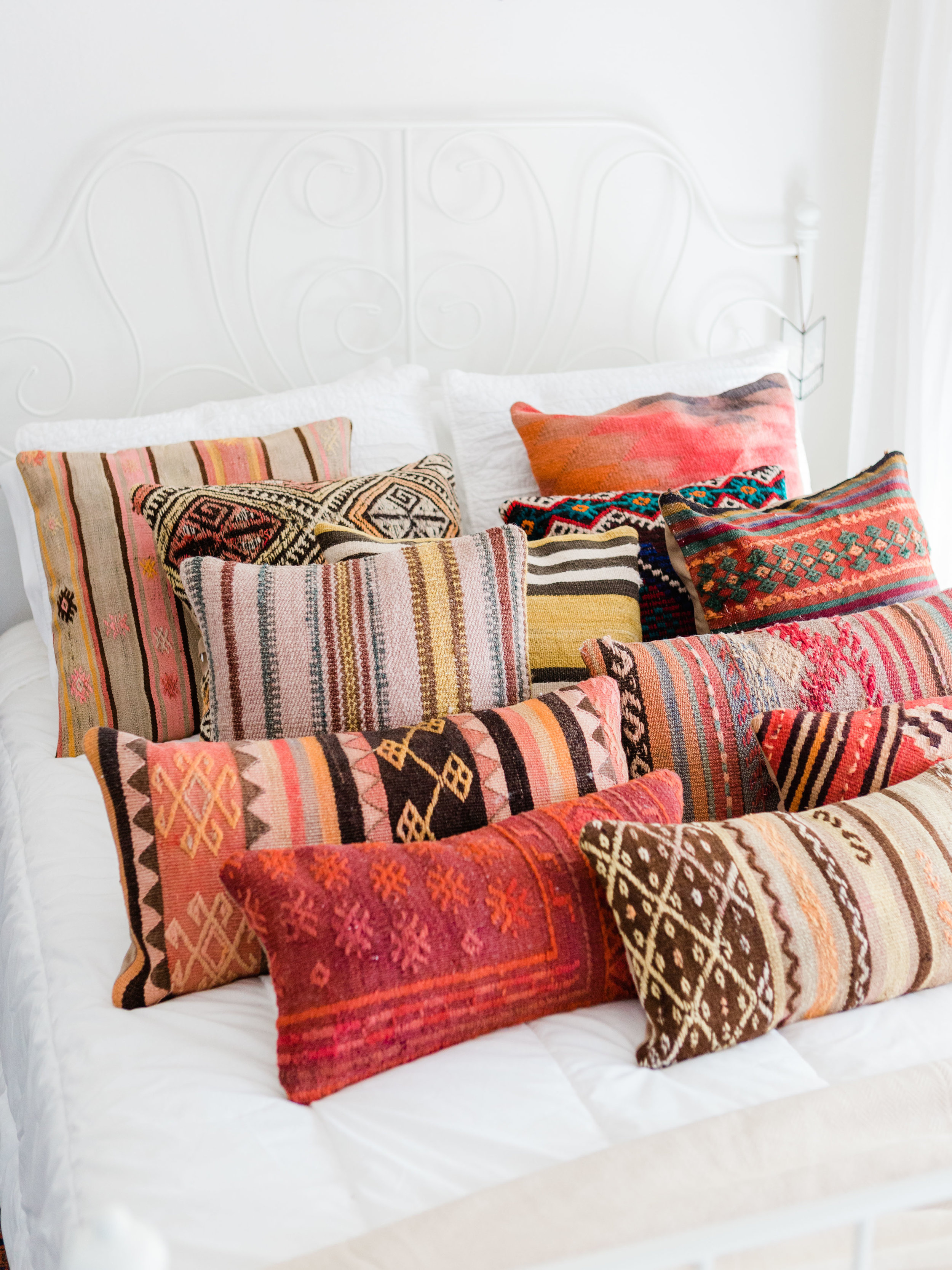 Kilim pillow covers from Turkey at Foraged Home