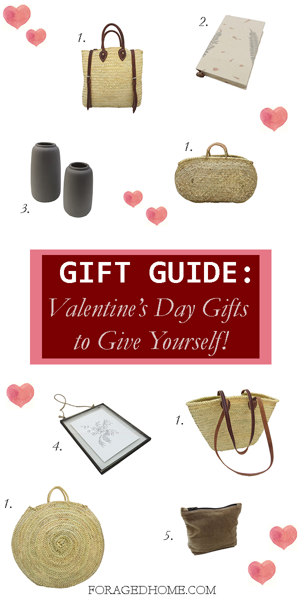 Valentines Day Gift Guide full of home decor items under $50 from Foraged Home; Valentines day gift guide of items to give yourself this February!