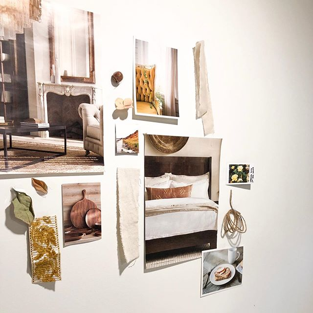 The studio walls are becoming a living mood board for our vision for Foraged Home. #foragedhome