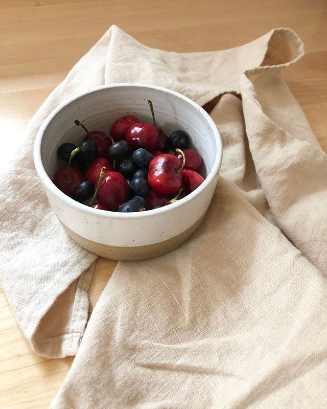'Tis the season for the most delicious fresh berries! I technically had these small bowls made for my dog, Marcy, to use for her food and water (it's so hard to find pretty pet bowls!), but I think I might keep a couple to use in the kitchen too. They are the perfect size for snacking! #foragedhome