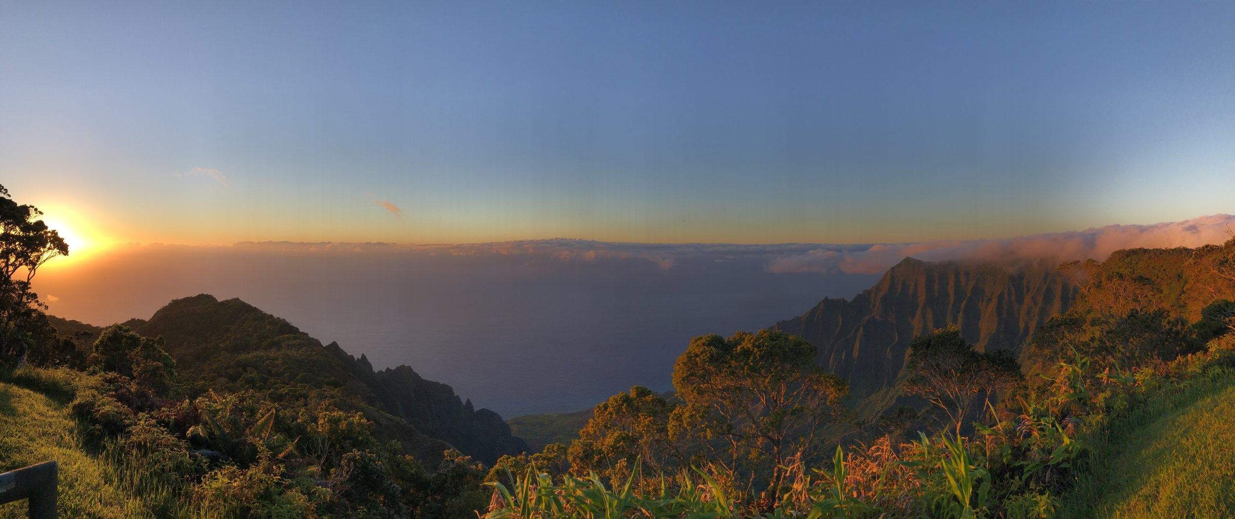 Koke'e State Park - Kalalau Valley Lookout - Sunset