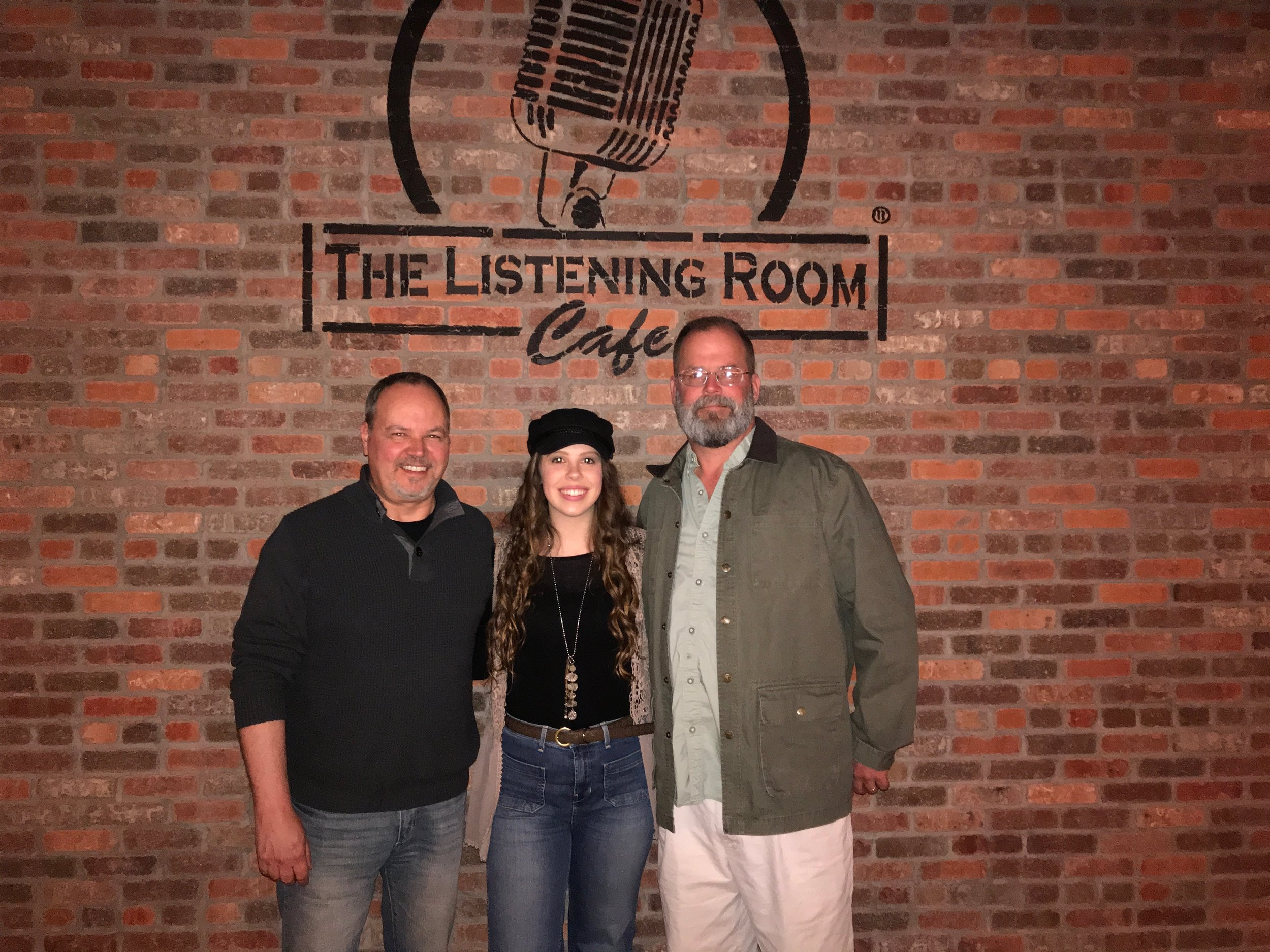 My Dad (right) and Paul Graham (left) after my first performance at The Listening Room Café - March 4th, 2019