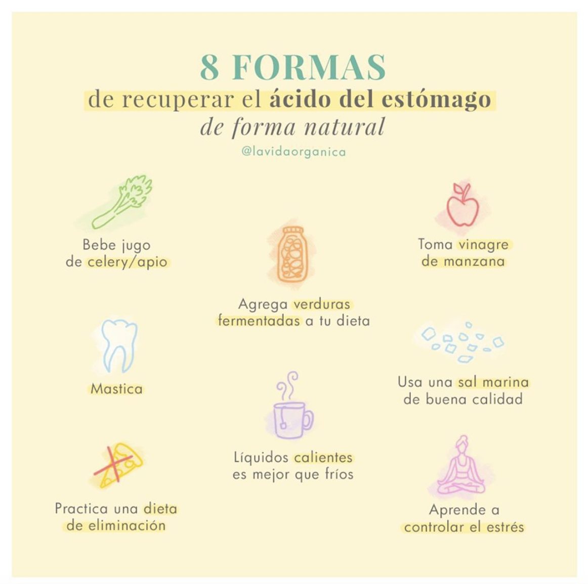 8 Formas de Recuperar el ácido del Estómago de Forma Natural