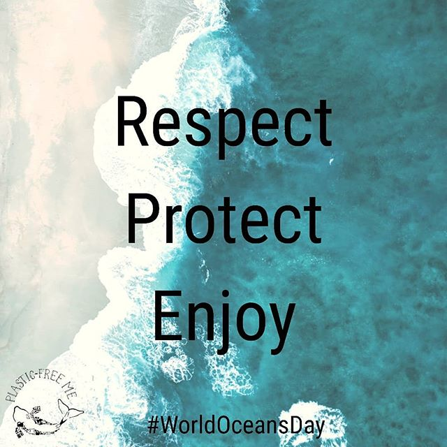 Respect. Protect. Enjoy. In that order. THIS should be our attitude to the oceans, the earth and every living thing. 🌊🌍 Happy #WorldOceansDay from all of us at Plastic-Free Me, and a huge shout out to all of the amazing work being done for our oceans. 🌊❤️ #worldoceansday2019 #oneplanet