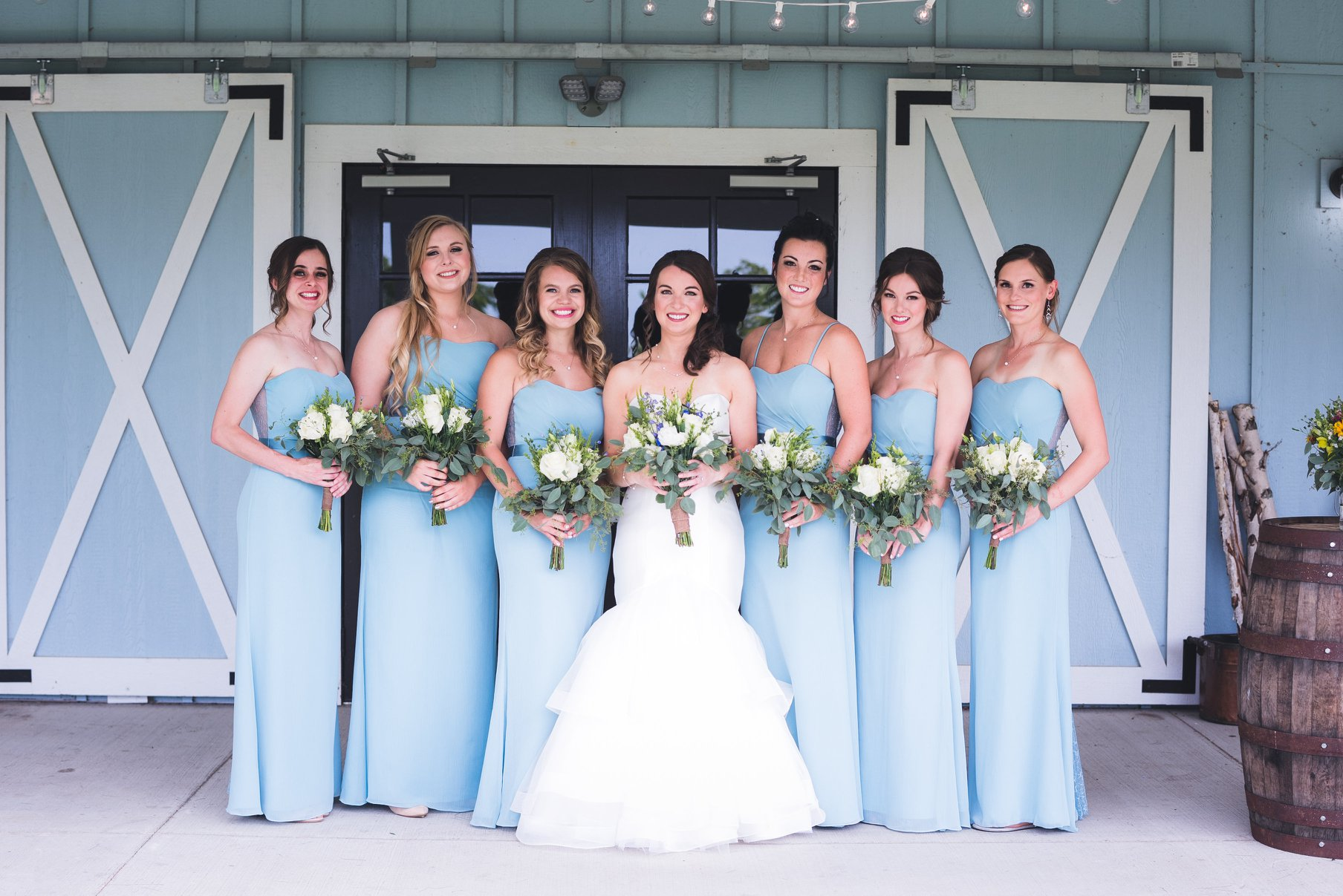 Glamorous Bride & Bridal Party