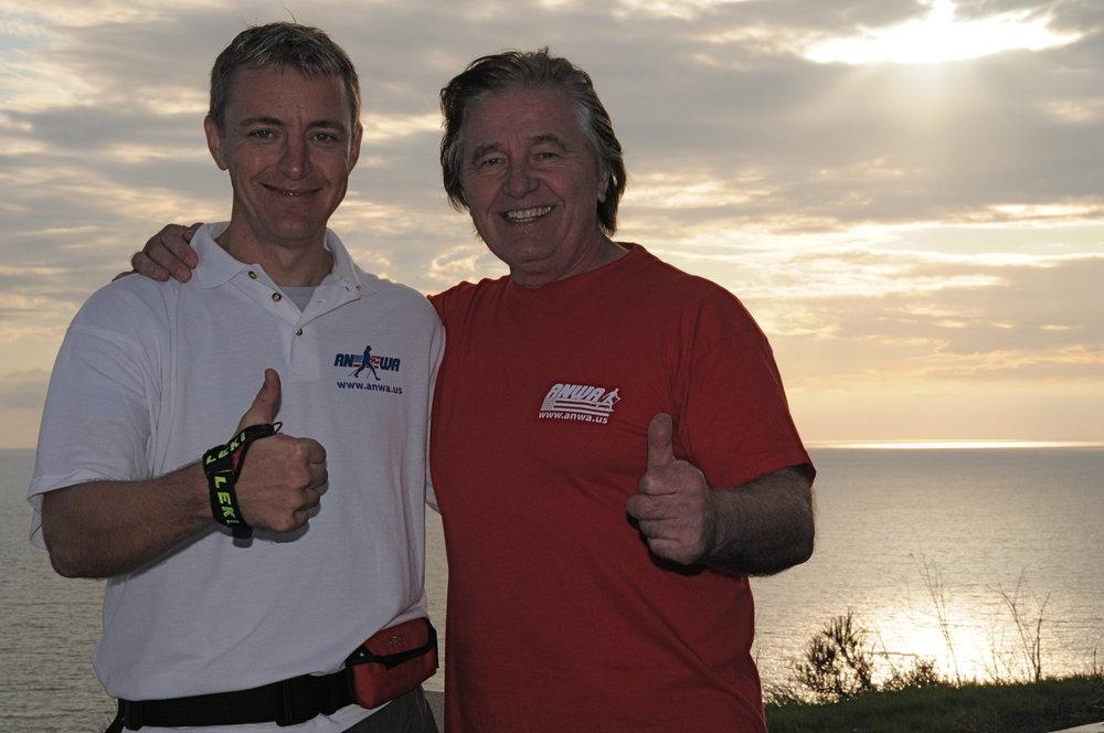 Gottfried Küermer -  ANWA Technical Director and Master Coach   (Left)    Bernd Zimmermann  - Founder and Master Coach   (Right)