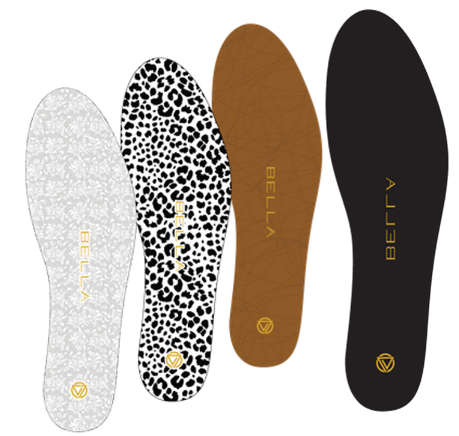 Bella For Women - Voxx Bella Thin Insoles for women! -- You asked and we've delivered! Also available in 3 packs!Designed to fit almost any flat shoe or loafer, the Bella thin insoles offer the perfect combination of improved stability, pain relief and all-day energy. Styled in black to work with any colour or style.EMBEDDED WITH VOXX HPT TECHNOLOGY With proprietary Voxx HPT neuro-activation patterns build into every Bella thin insole, you'll find your new level of wellness and quality of life. Voxx HPT is independently tested and proven to increase stability, energy and help with pain relief. TRIM & FIT DESIGN Fits most shoes, Women's sizes 3-9. Using your old insole as a template, match the toes to each other and trace the top of the old insole on to the Bella thin insole. Trim along this line 100% EVA insole with cotton blend liner.