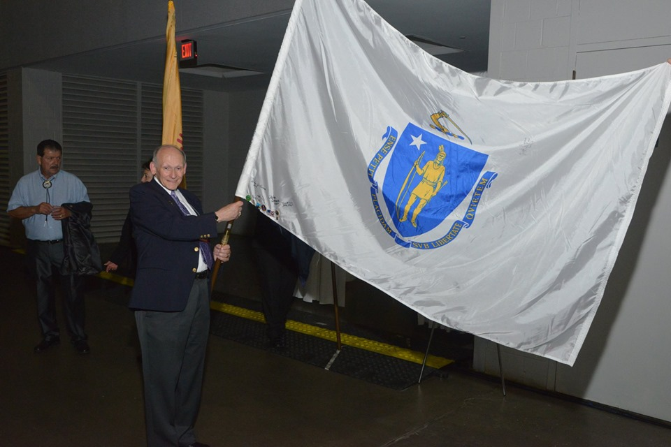 Tony Carrying MA Elks State Flag at the Grand Lodge Convention in St. Louis