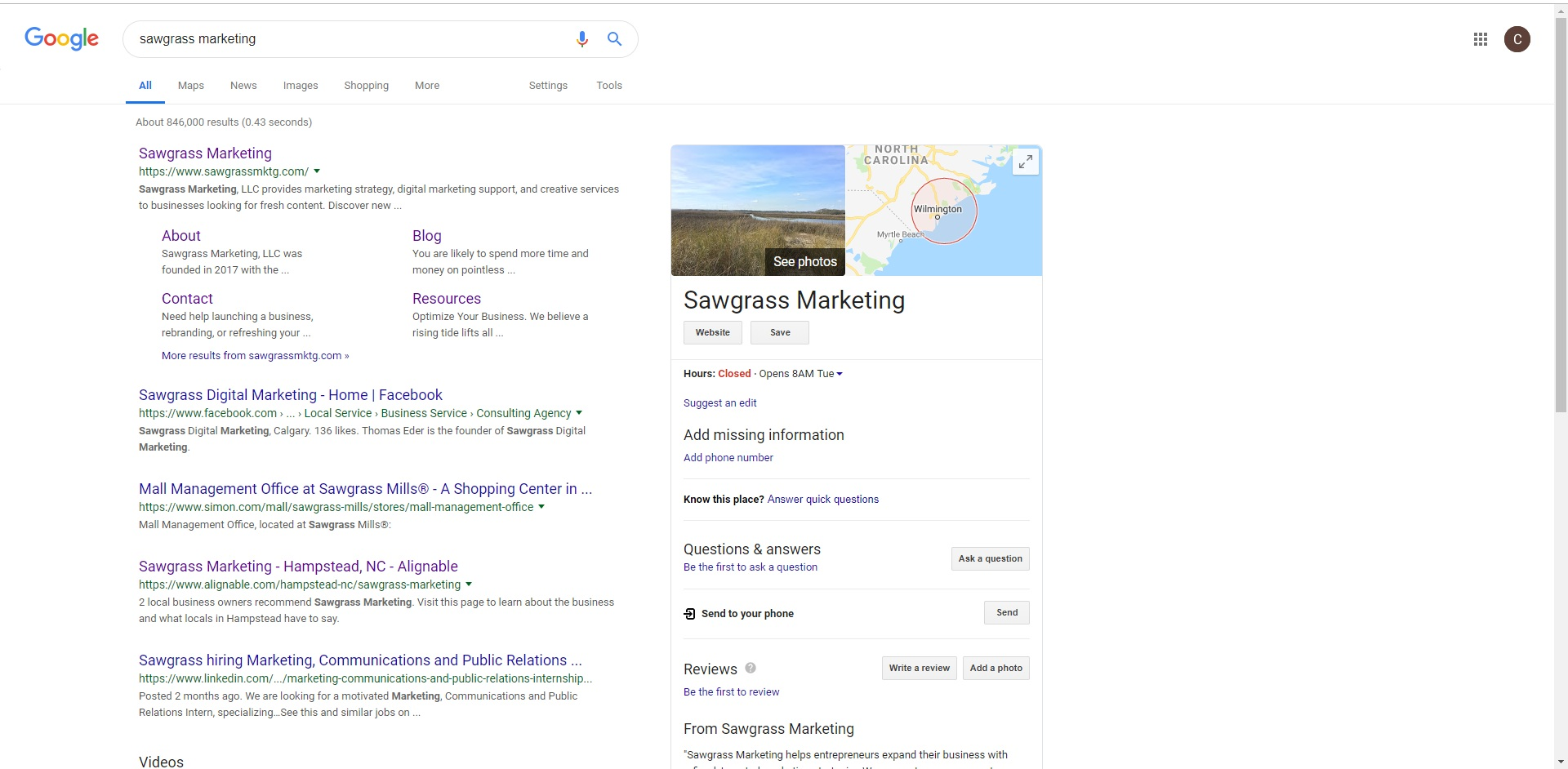 Sawgrass Marketing Google Business