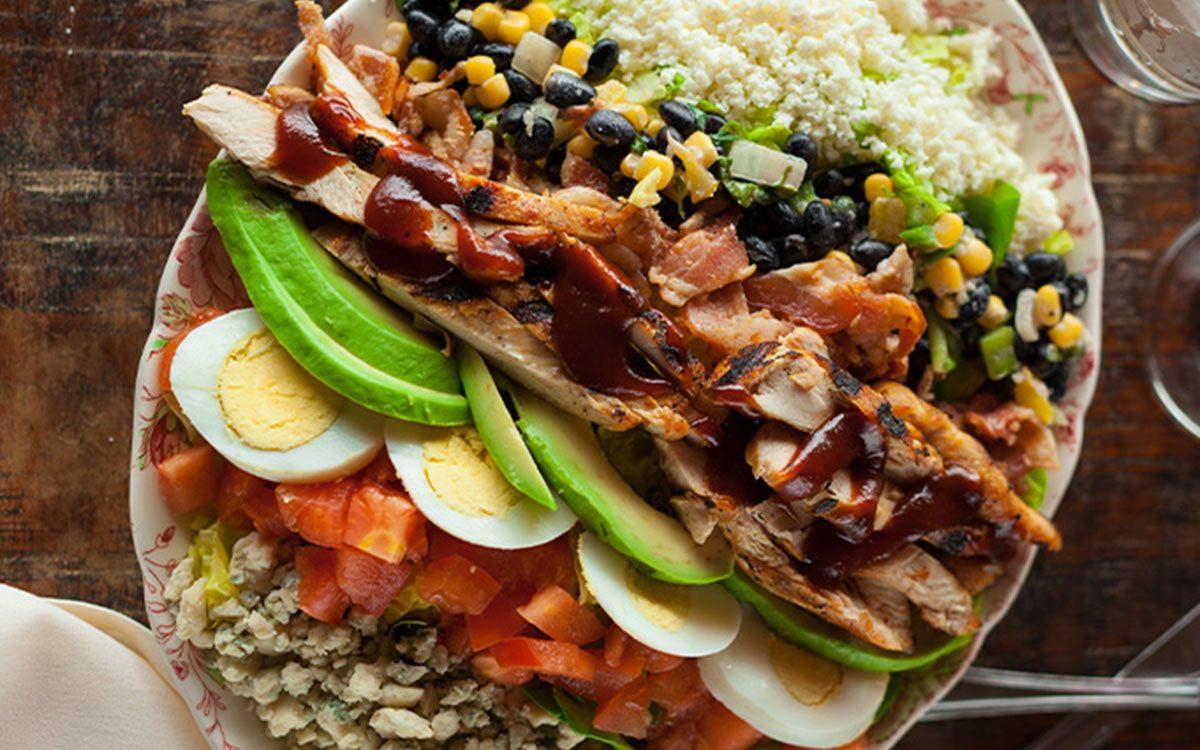 vegetable salad eggs avocado tomato chicken wrap healthy hd