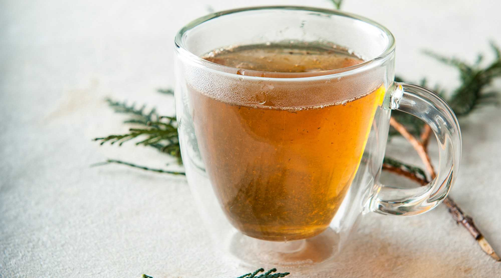 steaming cup of black tea