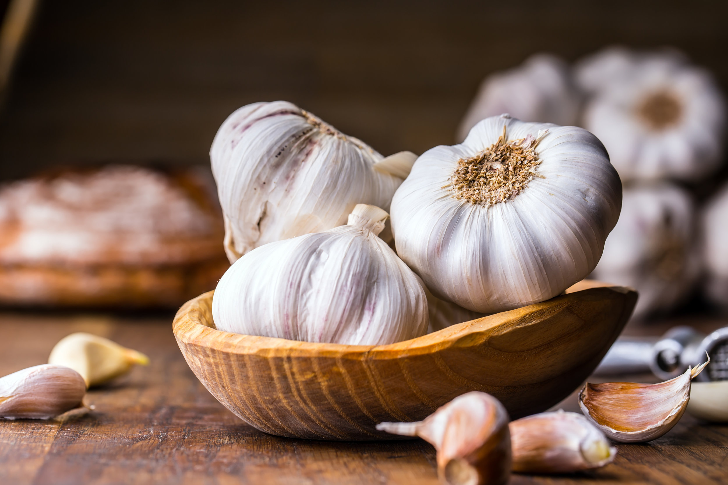 pack of garlic cloves healthy diet stock hd