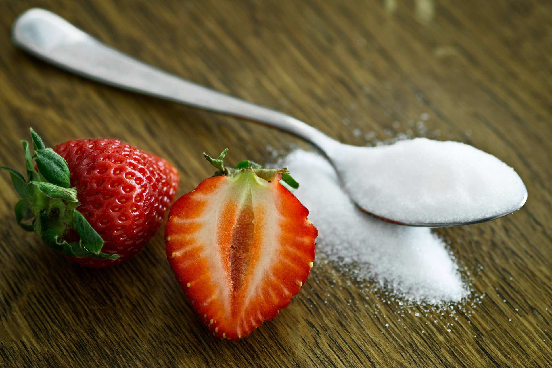 white sugar fruit carb