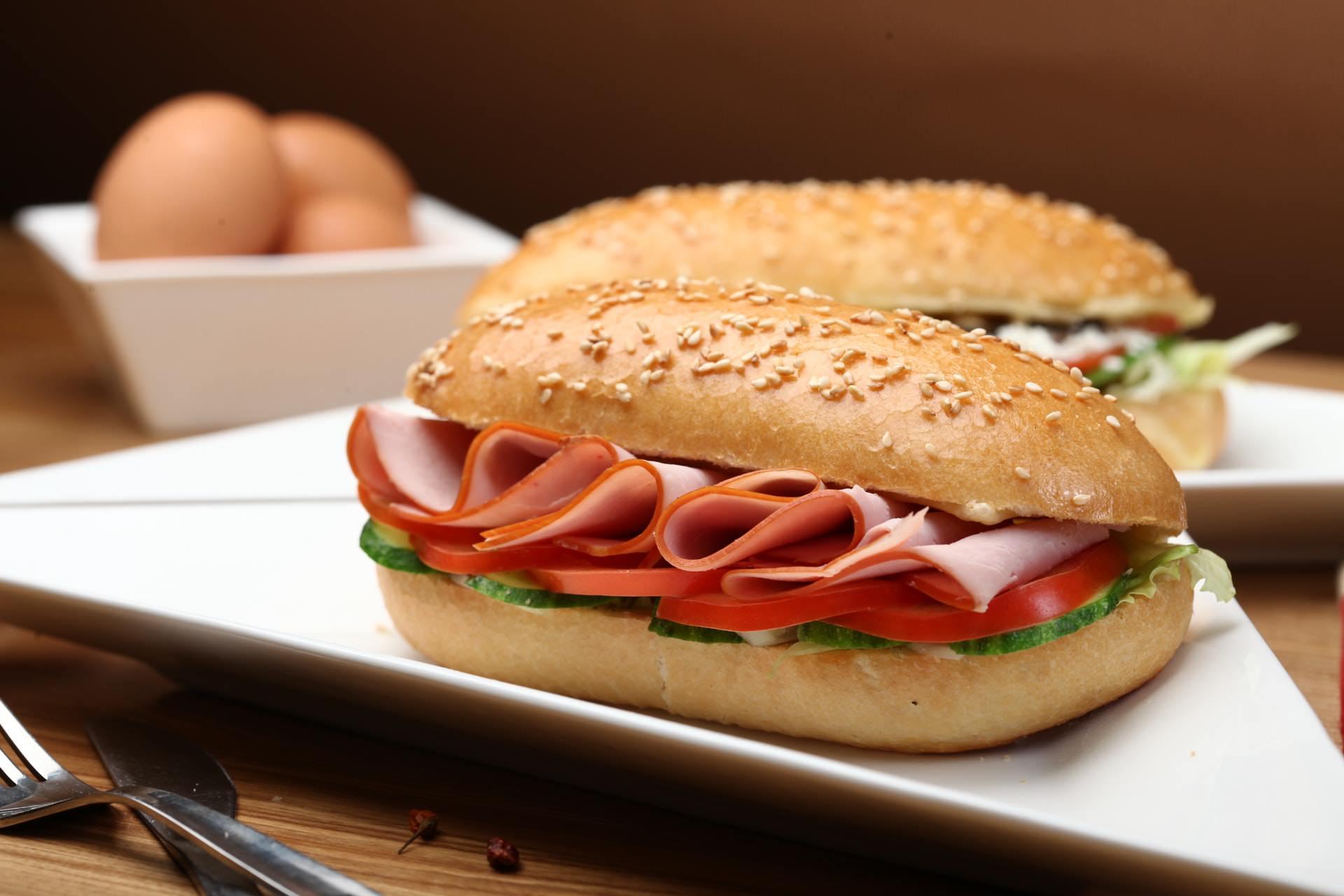 processed deli meat sandwich