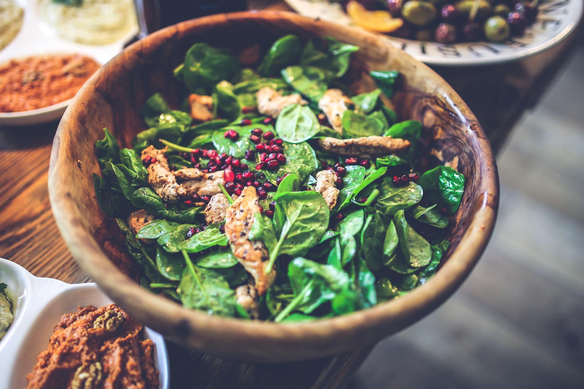 spinach chicken salad healthy