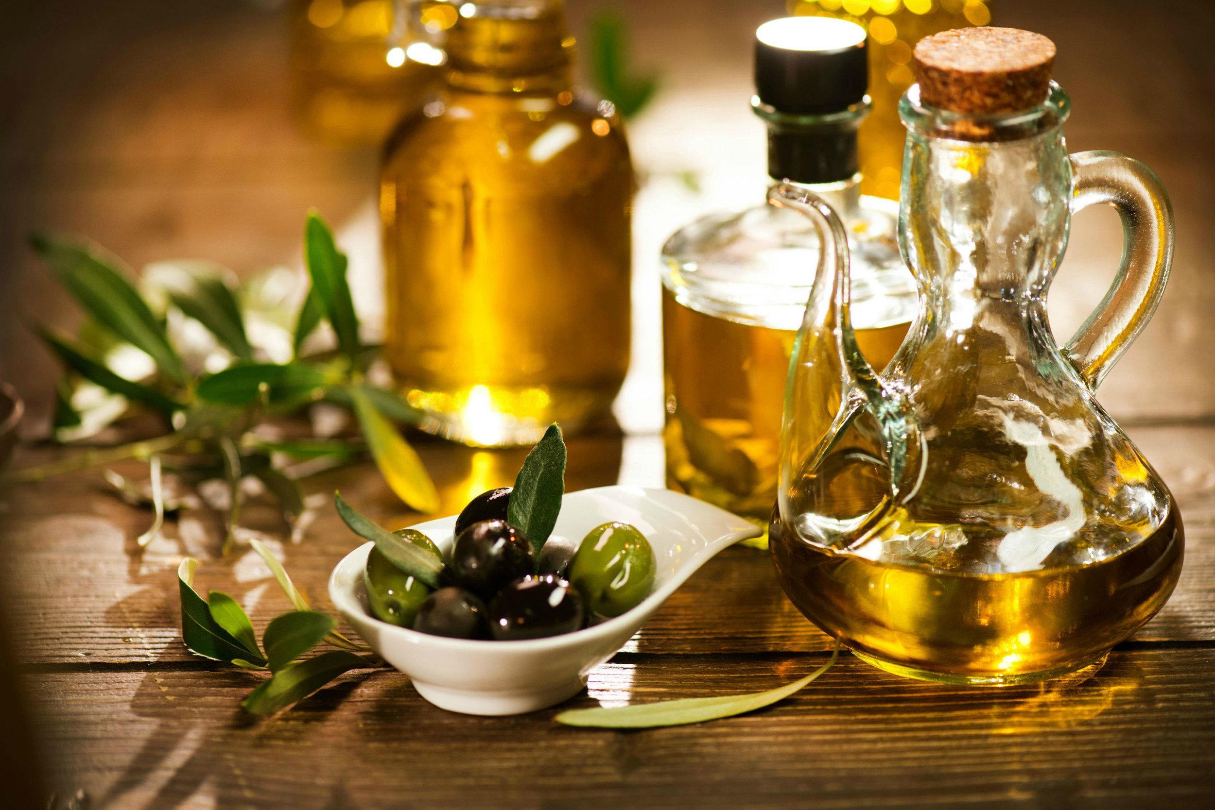 olives extra virgin olive oil