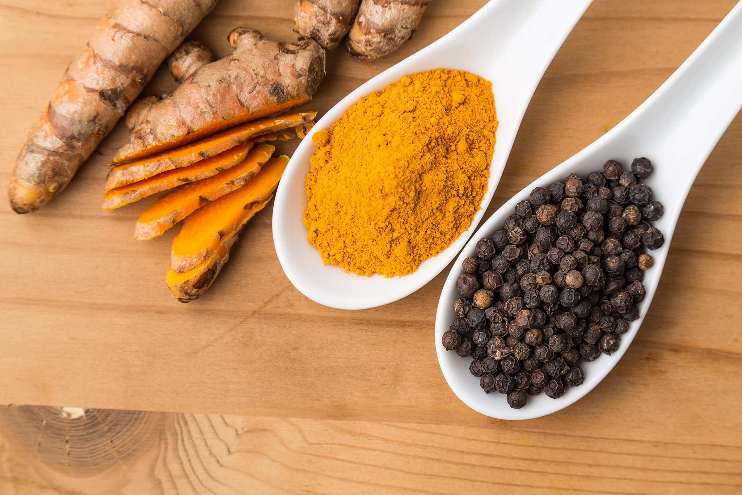 turmeric black pepper spices
