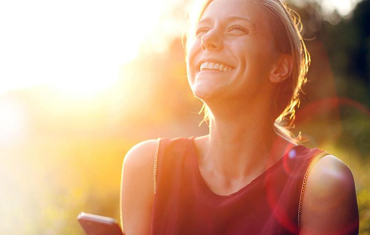 confident happy girl smiling
