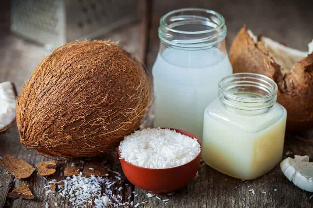 coconut milk and flakes