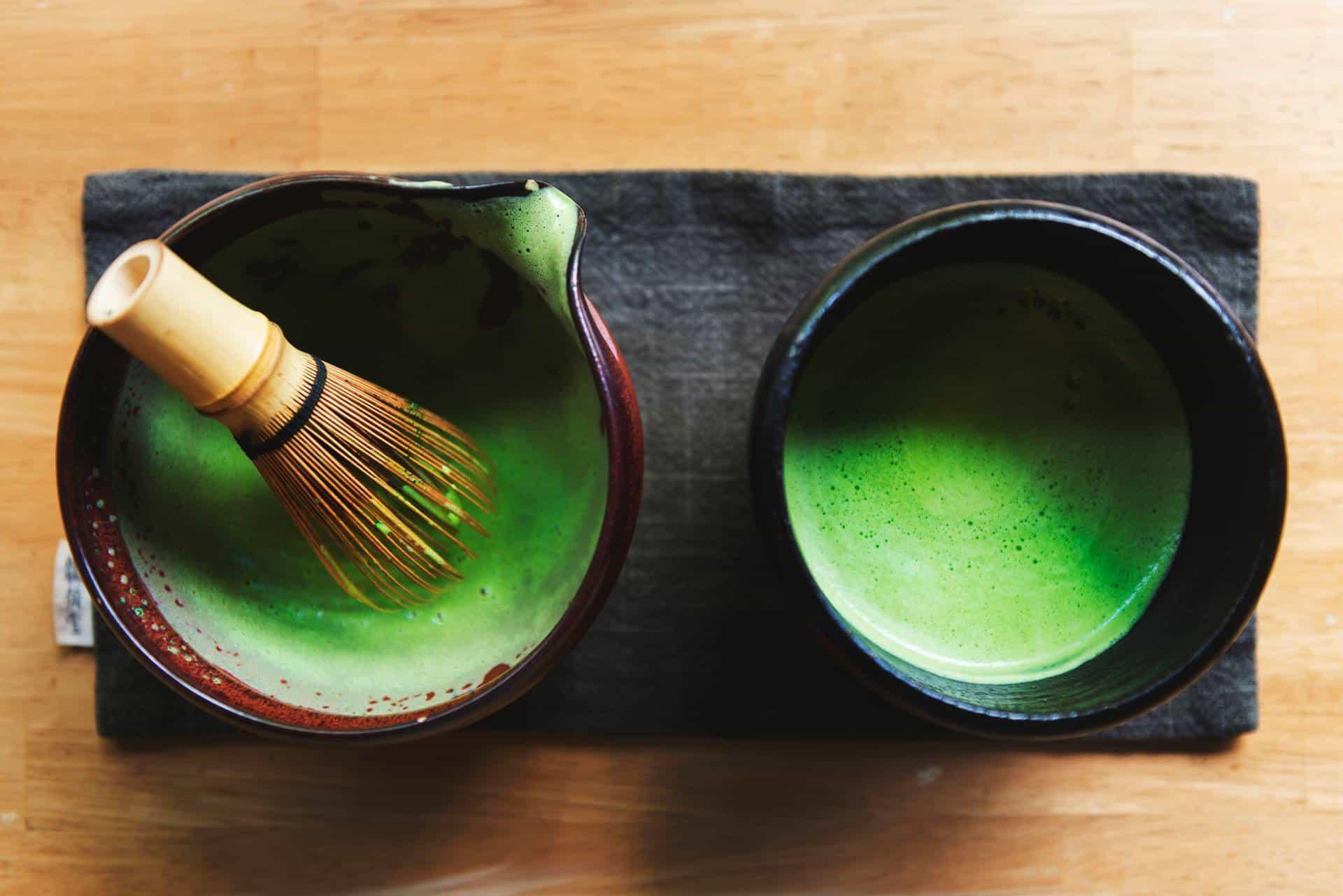 bamboo whisk matcha tea