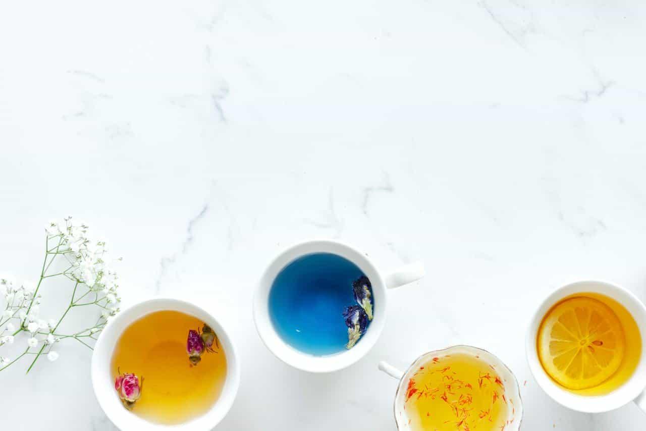 rosebud lemon saffron tea