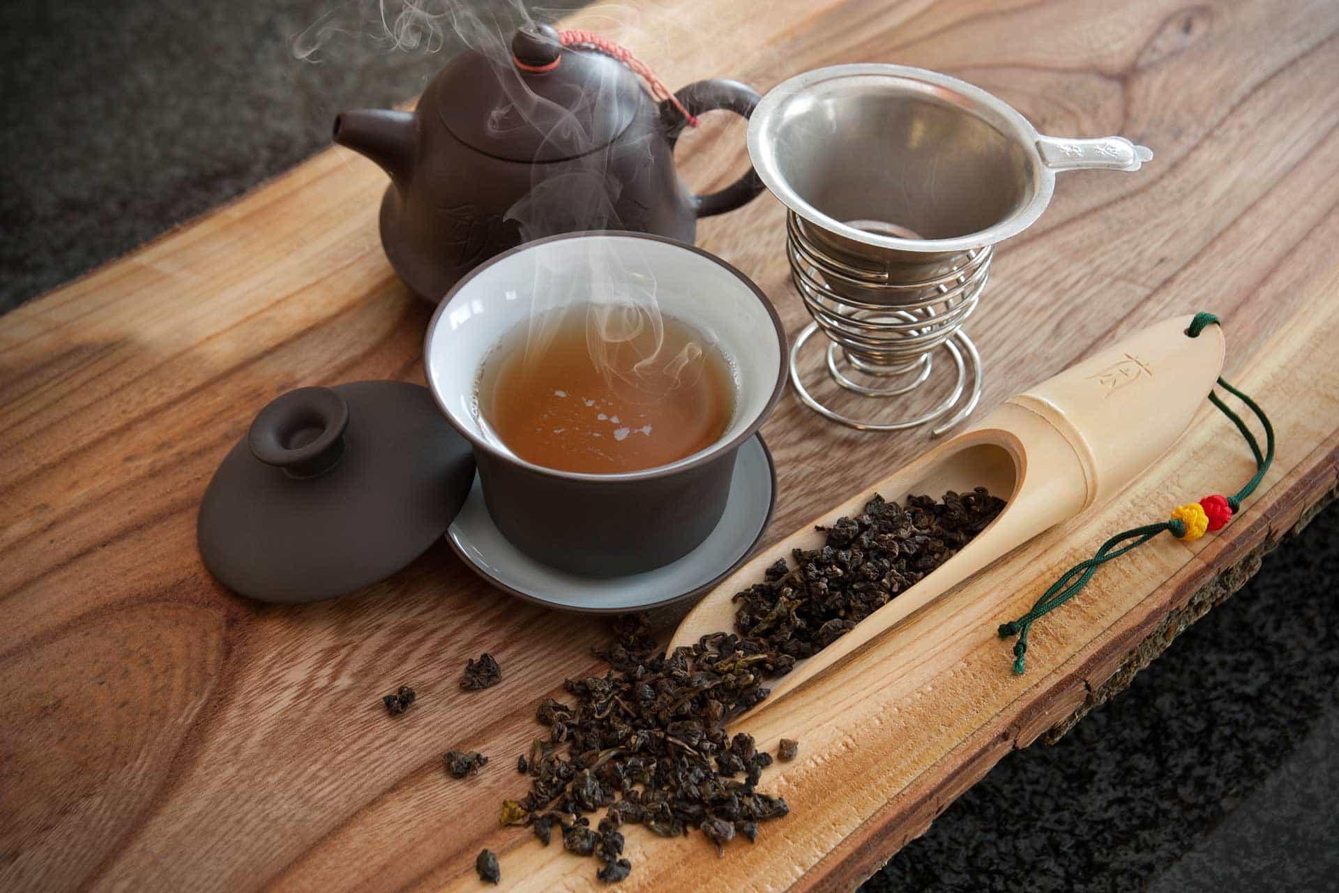 oolong tea with tea herbs