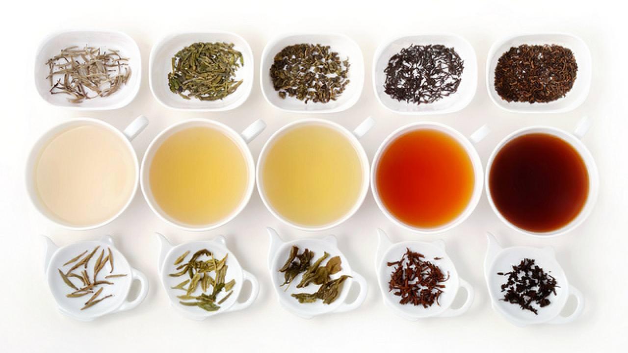 white tea to black oolong tea